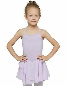 MdnMd Girls' Camisole Cotton Leotard Dress Purple 4- 6 / Sma