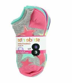 Stride Rite Girls Comfort Seam No Show Socks-8 Pack , Party