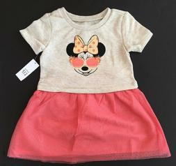 Gap Girls Disney Minnie Mouse Mix Fabric Dress 2 5 Years NWT