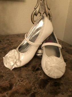 STRIDE RITE GIRLS DRESS SHOES SIZE 8.5 ESME WHITE! NEW! Free