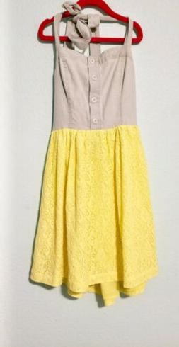 Girls KEDS Dress Size Small Yellow