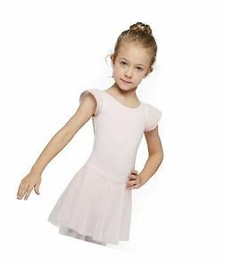 MdnMd Girls' Flutter Sleeve Dress Leotard Ballet Pink 2- 4 /