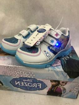 Girls Disney Frozen Size 7 Sneakers Light Up Shoes New Toddl