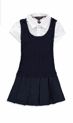 "French Toast Girls ""Gabrielle"" Jumper Twofer Uniform Navy Bl"