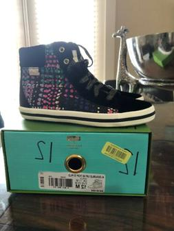 Girls Kate Spade X Keds K-Double Up Hi Top D PLD Size 12 New