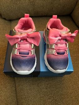 Stride Rite Girl's Katie Sneaker Pink, Sz. 7W