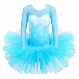 Baohulu Girls Leotards Ballet Dance Skirted Tutu Dress Short