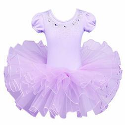 BAOHULU Girls Leotards Dance Skirted Ballet Tutu Dress Short