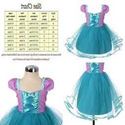 Princess SNOW WHITE Dress Cinderella Rapunzel Mermaid Costum