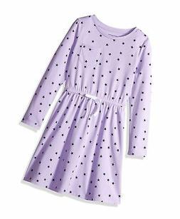 Essentials Girls Long-Sleeve Elastic Waist T-Shirt Dress