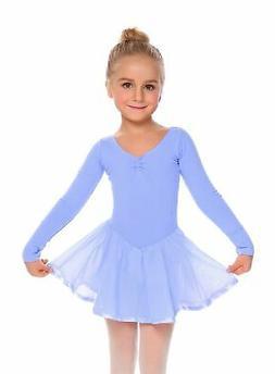 Arshiner Girls Long Sleeve Skirted Leotard Dance Ballet Tutu