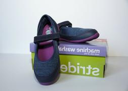 Stride Rite Girls M2P Made 2 Play Terry Navy Mary Jane Shoes