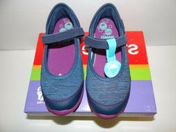 Stride Rite Girls M2P Terry Navy Mary Jane Shoes New 11.5