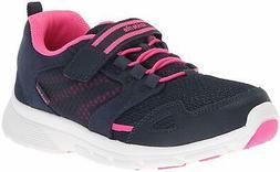 Stride Rite Girls' Made 2 Play Taylor Sneaker, Navy/Pink, 3