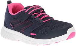 Stride Rite Girls' Made 2 Play Taylor Sneaker, Navy/Pink, 1.