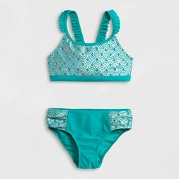 Girls' Mermaid Bikini Set - Cat & Jack - Size Medium 7/8 Tur
