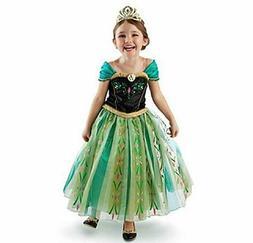 DaHeng Girls Princess Green Anna Fancy Dress Gown Costume