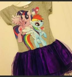 girls rainbow with tutu dress szs 6