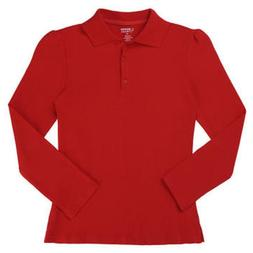 Girls shirt polo Red NEW long sleeve medium 8 10 french toas