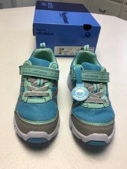 Girls-Shoes-Size 12 1/2 W-Blue Silver-Stride Rite-New