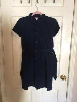 Cat And Jack Girls Size 16 School Uniform Jumper Dress Khaki