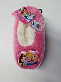 Girls Size 2T-4T Disney Princesses Pink Fuzzy Slipper Socks