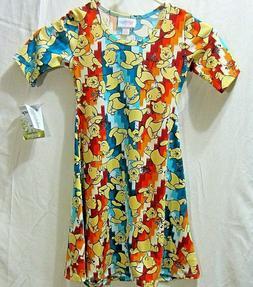 GIRLS SIZE 6 DRESS BY LULA ROE FOR DISNEY, WINNIE THE POOH,