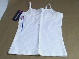 Cherokee Girls Size L 10 12 Tank Top Cami White With Silver
