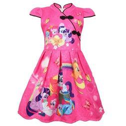 Girls Skater Dress Kids My Little Pony Print  Causal Party B