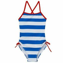Arshiner Girls' Strap One Piece Bathing Swimsuit Blue 130