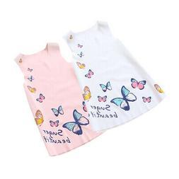 Girls Summer Clothes Sleeveless Floral Skirt One Piece Dress