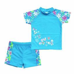 Baohulu Girls Swimsuit Two Piece Tankini Upf 50+ Uv Protecti