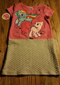 Girls My Little Pony SZ 10/12 Cute Dress~New~Pinkie Pie