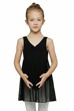 MdnMd Girls' Tank Leotard Dress  Age 2-4 Black New