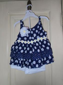 Little Lass Girls Top & Short Set Size 5    NEW WITH TAGS