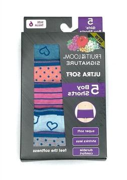 Fruit of the Loom Girls Ultra Soft Boy Short 5 pack