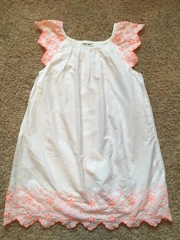 Girls White Coral Sleeveless Cherokee Dress Small