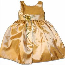 Gold Dress for girls / Party Dress for Girls / Gold Flower G