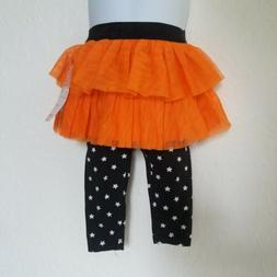 Halloween tutu skirt pants for toddler girls Pumpkin orange
