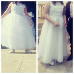 Hoy keds usa Firts Comunión White Girl dress size 20