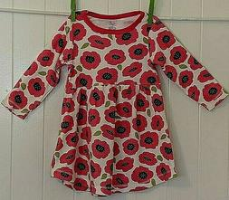 Touched By Nature Infant Baby Girl 18 M 100% Organic Poppies