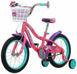 "Schwinn Jasmine Girl'S Bike With Training Wheels, 16"" Wheels"