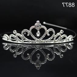 DV_ Kid Girls Princess Crystal Rhinestone Prom Hair Tiara Cr