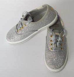 Kate Spade Keds Champion Glitter Silver Girls 5 Toddler Snea