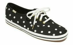 Keds for Kate Spade girls youth black canvas white embroider