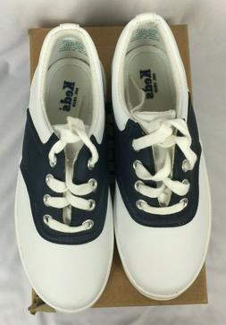 Ked's School Days II White/Navy Girls youth size 13 W.  New
