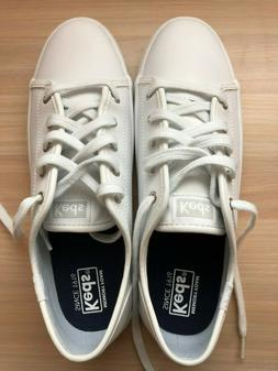 Keds Kickstart Core Sneaker White Girls 4.5 M or Women 6-6.5