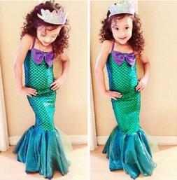Kids Ariel Little Mermaid Set Girl Princess Dress Party Cosp