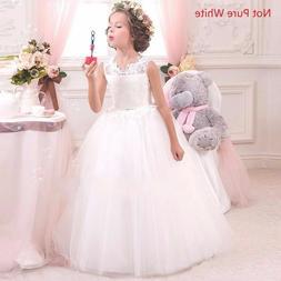 Kids Flower Girl Bow Princess Dress for Girls Party Wedding