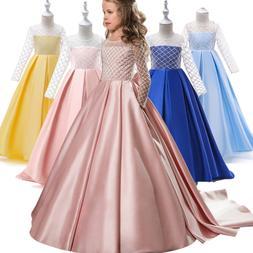 Kids Flower Girl  Princess Dress for Girls Party Wedding Bri